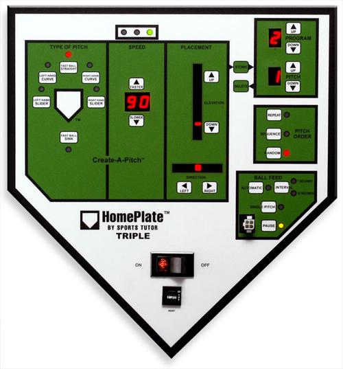 home plate pitching machine